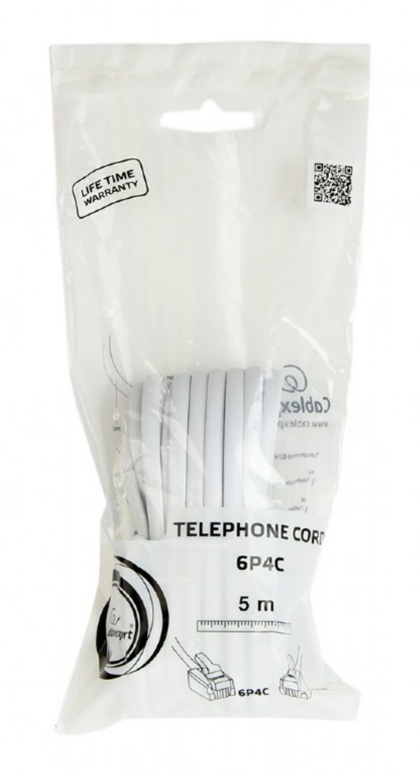 Cable telefonico Gembird 5 mts