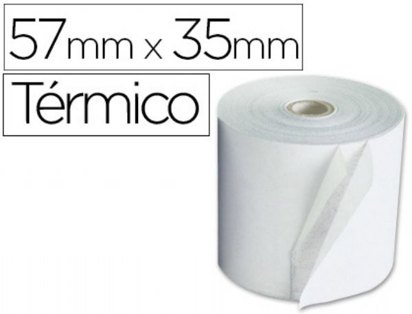 ROLLO SUMADORA Q-CONNECT TERMICO 57 MM ANCHO X 35MM