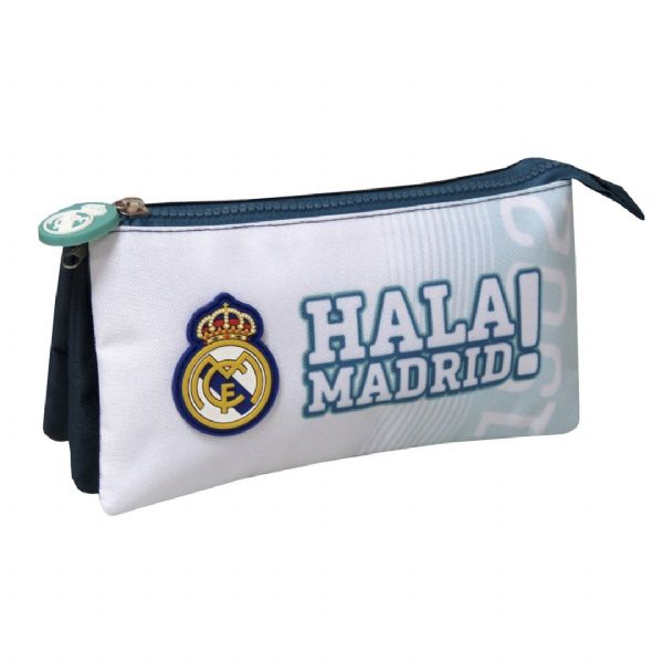 PORTATODO TRIPLE REAL MADRID 22x6,5x12 CMS