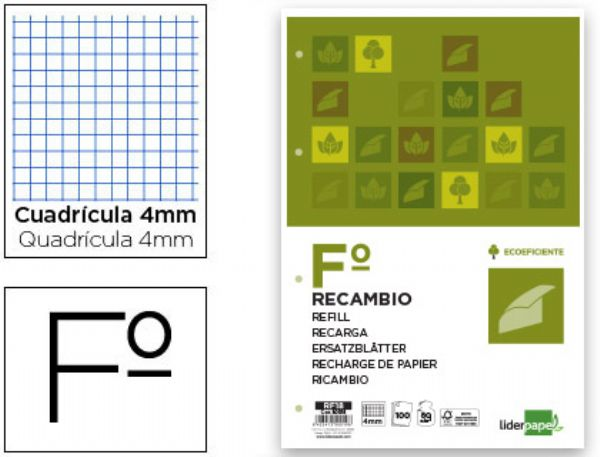 Recambio 4mm 80Grs Liderpapel