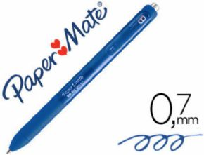 Boligrafo paper mate inkjoy retractil gel pen trazo 0,7 mm azul pizarra
