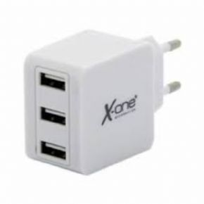Cargador de pared X ONE  3 USB 3.1 A Blanco