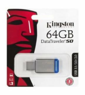 Dispositivo de almacenamiento USB Kingston Datatraveler 50 64 GB Canon incluido de 0,29€