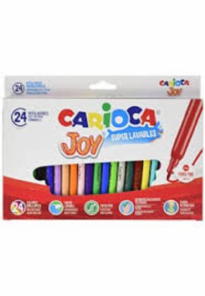 Rotulador Carioca Joy lavable 24 colores