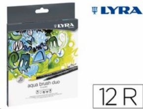 Rotulador LYRA Aqua brush duo cja de 12 pcs