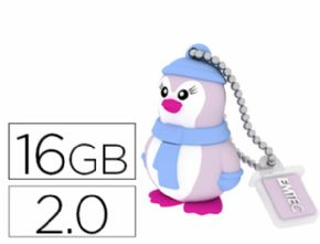 MEMORIA USB EMTEC FLASH 16 GB 2.0 PINGUINO - Canon digital de 0,29€ incluido