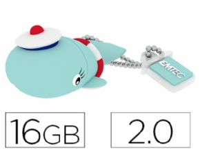 MEMORIA USB EMTEC FLASH 16 GB 2.0 BALLENA - Canon digital de 0,29€ incluido