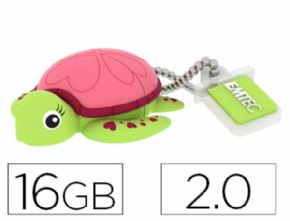 MEMORIA USB EMTEC FLASH 16 GB 2.0 TORTUGA - Canon digital de 0,29€ incluido
