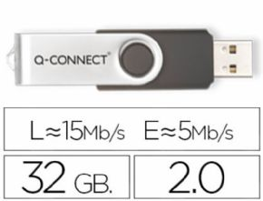 MEMORIA USB Q-CONNECT FLASH 32 GB 2.0 . Canon digital de 0,29€ incluido
