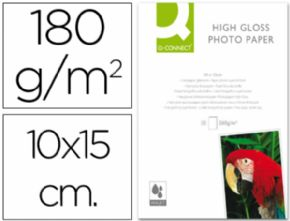 Papel q-connect foto glossy -kf01905 -10x15 -digital photo -para ink-jet -bolsa de 25 hojas de 180 gr.