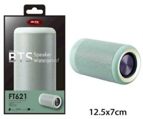 ALTAVOZ IMPERMEABLE KIKAS FT621 BLUETOOTH / SD / VERDE / FUNCION POWERBANK / MTK