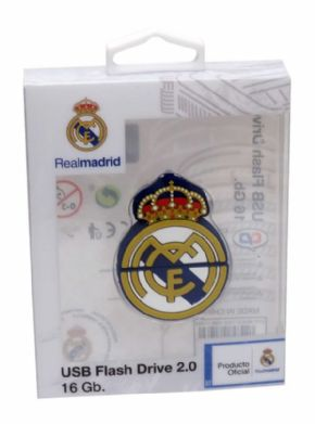 Pendrive rubber 16 gb escudo real madrid