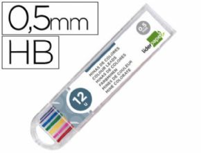 Minas de colores Liderpapel 0.5mm 12 pcs.