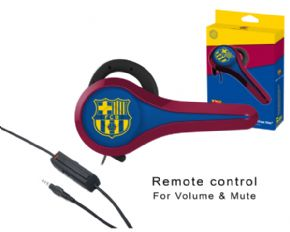 Auricular gaming FC Barcelona con cable