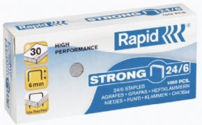 Grapas RAPID 24/6 Galvanizadas Strong