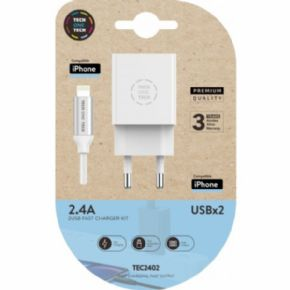 Cargador y cable de datos Lightning Apple USBx2
