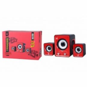 Altavoces Multimedia BS200 Rojo
