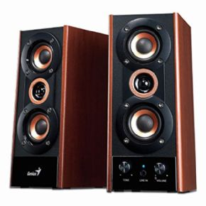 Altavoces Multimedia SP-HF800A 3-Way Hi-Fi Wood Speakers