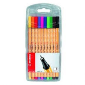 Stabilo Point88 FineLiner 10 Colores