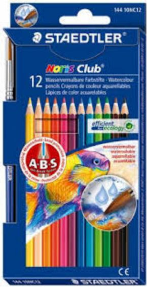 Staedtler Noris Club 23 Colores Acuareables + Pincel