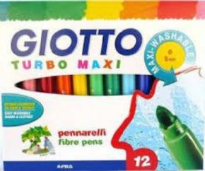 Rotuladores Giotto Turbo Maxi 12Colores