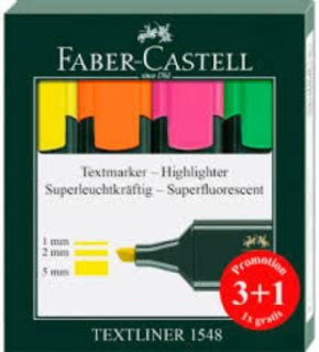 Subrayador Faber Castell 3colores+1