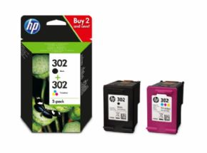 Pack Cartuchos de tinta HP 302 negro y color
