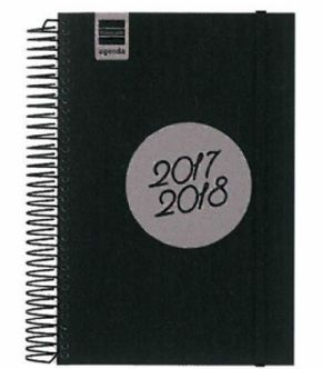 Agenda escolar 17/18 80x103mm Label Negro
