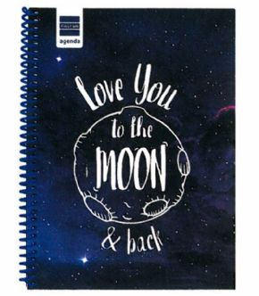 Agenda escolar 17/18 Love You to the Moon Finocam