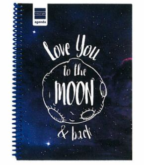 Agenda escolar 17/18 Love You To The Moon & Back