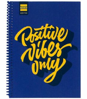 Agenda escolar 17/18 Positive Vibes Only