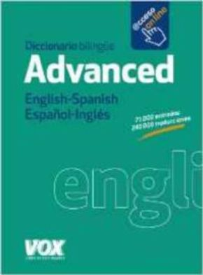 DICCIONARIO ADVANCED ENGLISH-SPANISH VV