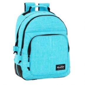 MOCHILA DAY PACK DOBLE ADAPTABLE A CARRO AZUL