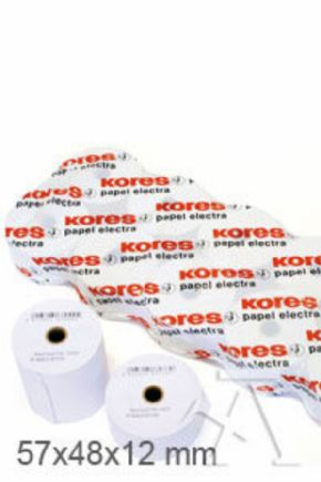 ROLLOS PAPEL TERMICO 57X48X12MM KORES