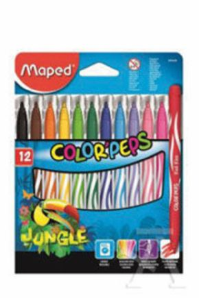 ROTULADORES COLOR'PEPS JUNGLE MAPED 12