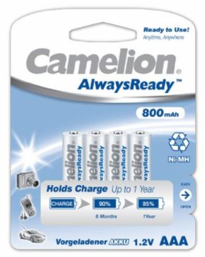 PILAS AAA RECARGABLE ALWAYS READY CAMELION