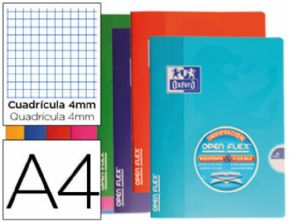 CUADERNO ESCOLAR OXFORD TAPA FLEXIBLE OPTIK PAPER OPENFLEX 48 HOJAS 90 GR DIN A4