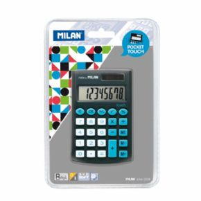 CALCULADORA MILAN TOUCH NEGRO 8 DIGITOS