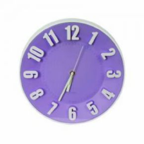 RELOJ DE PARED PLATINET TODAY MORADO