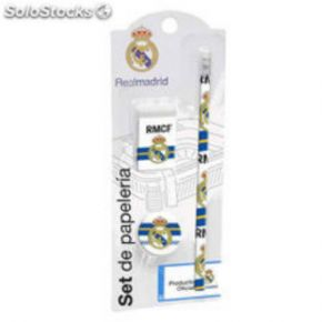 Set de papeleria Real madrid 3 pz