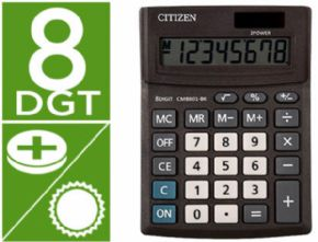 CALCULADORA CITIZEN SOBREMESA BUSINESS LINE ECO EFICIENTE SOLAR Y PILAS 8 DIGITOS