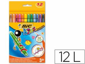 LAPICES CERA TURN&COLOUR BIC KIDS 12 COLORES