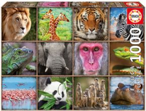 PUZZLE 1000 COLLAGE DE ANIMALES SALVAJES 17656