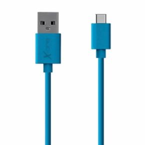 CABLE USB TIPO C  PLANO AZUL X-ONE