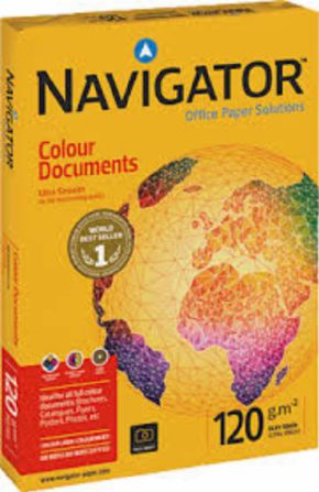 Paquete de papel Navigator Colour documents 120 grs