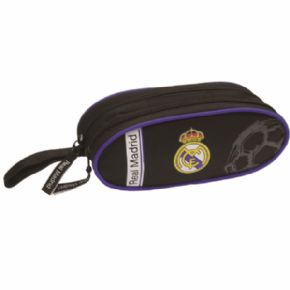 PORTATODO 2 CREM BLACK REAL MADRID 21,5x9 CMS