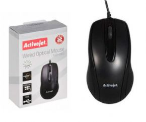 RATON OPTICO USB ACTIVEJET AMY-083 - 1000 DPI - NEGRO