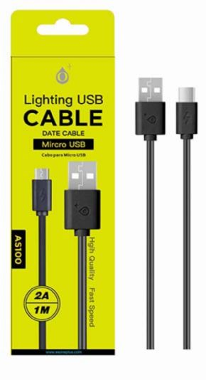 Cable micro USB PLUS ONE AS100 2 A 1mt