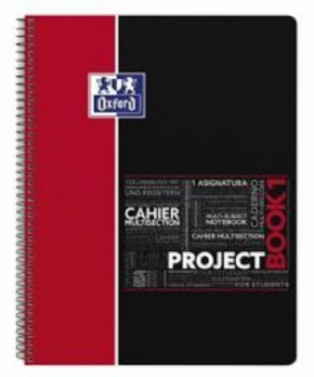 Cuaderno Oxford Project Book Rojo