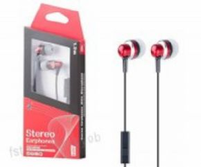 Auricular Stereo Plus ONE C6218 color rojo